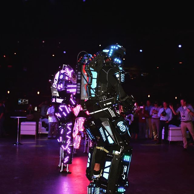 LED Dancing Robots at DCAC-Live Conference