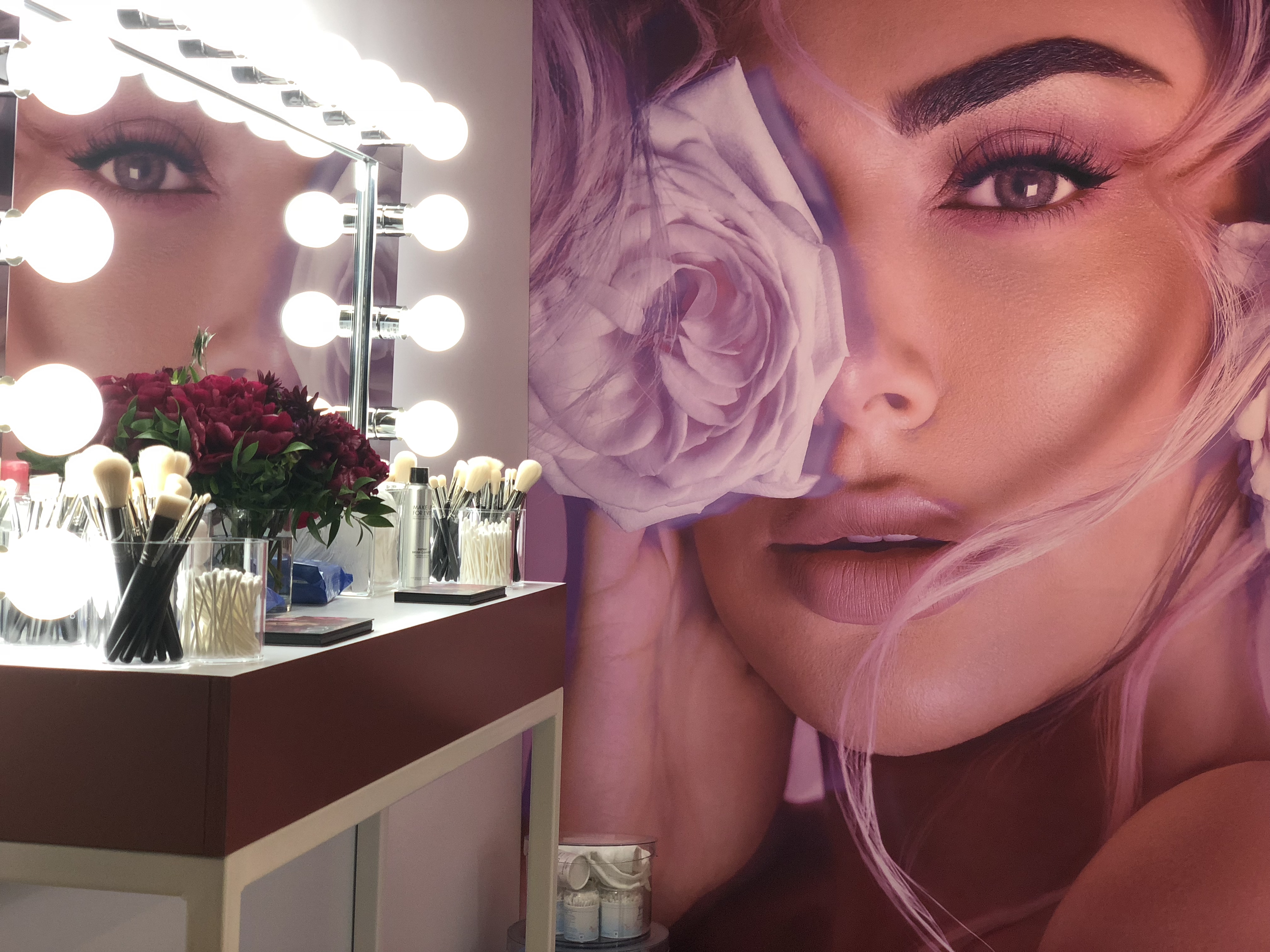Fully Customised Tradeshow Booth for Huda Beauty