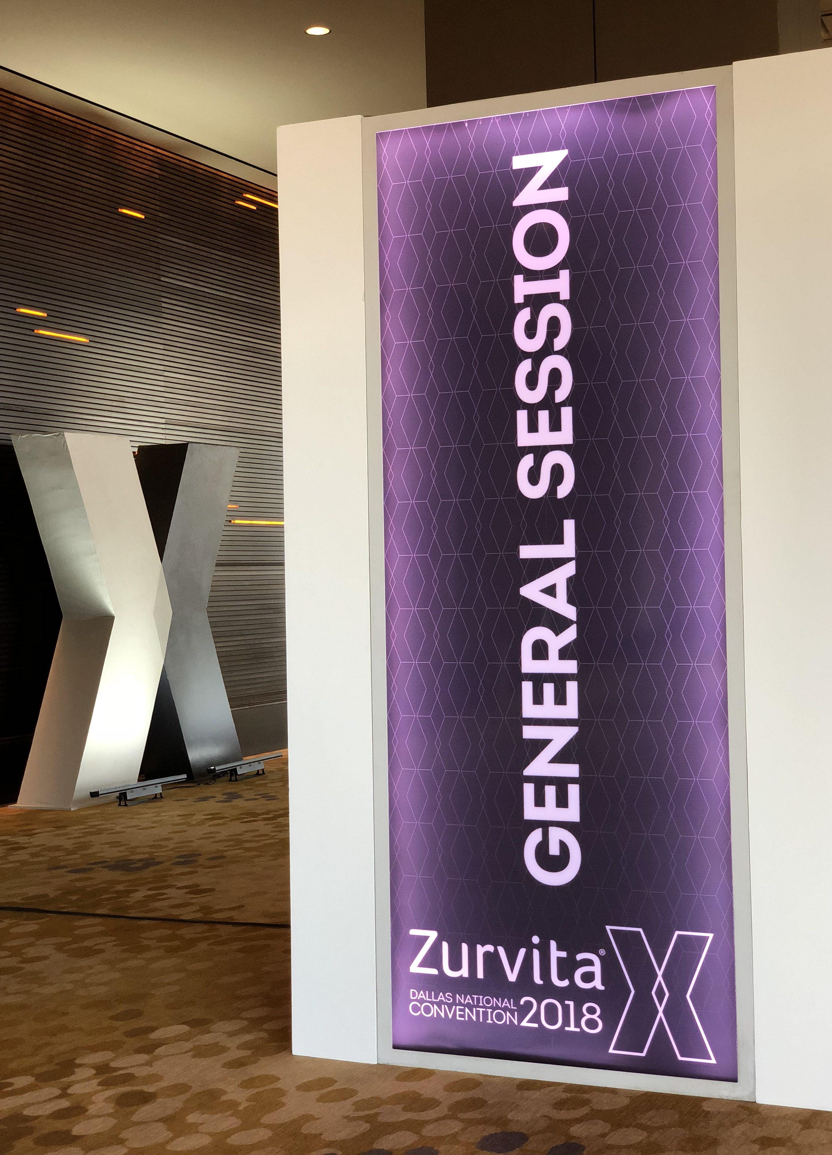 General Session Signage at Zurvita Sale Conference